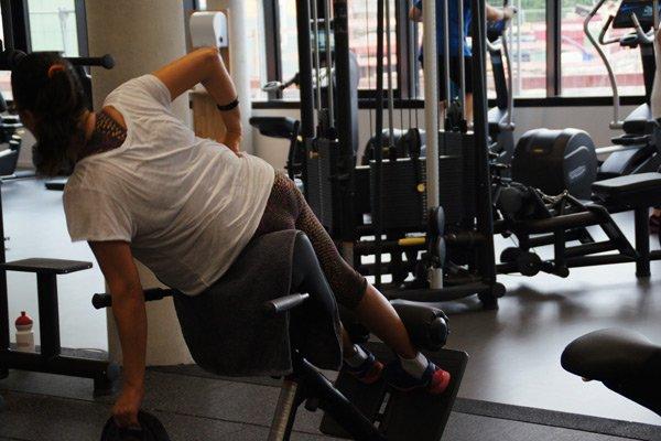 Training für den Rücken im Gerätebereich